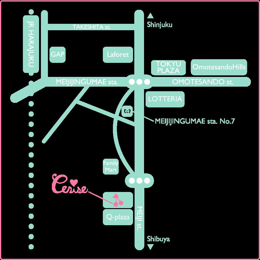 Cerise Official Website チェリーズオフィシャルウェブサイト地図